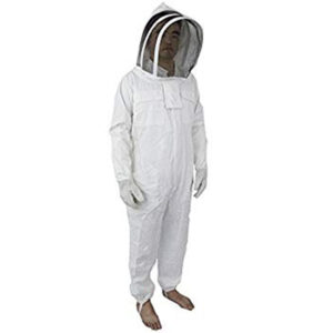 Heavy-Duty Bee Suit with Fencing Veil