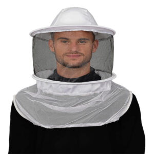 Round Bee Veil On Shoulder Straps